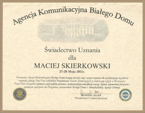 Limousine Service Warsaw -White House - Diploma